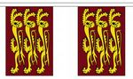 RICHARD THE LIONHEART BUNTING - 9 METRES 30 FLAGS